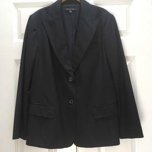 Lafayette 148 New York Navy Blazer Jacket Wool 14